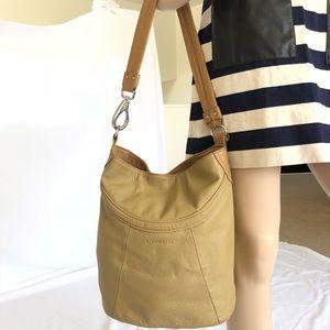 Stone & Co leather tan/cream shoulder bag
